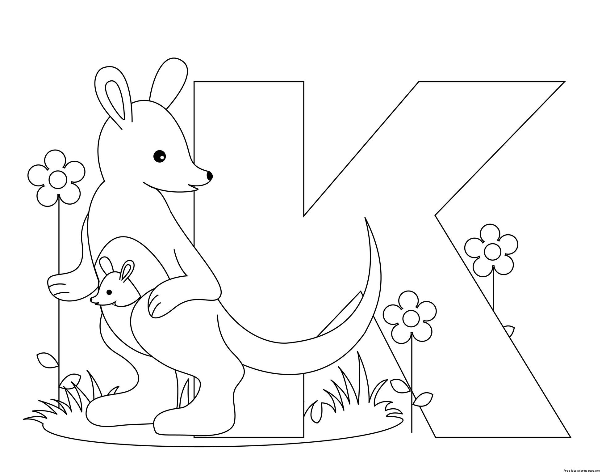 Letter K Kindergarten Coloring Pages