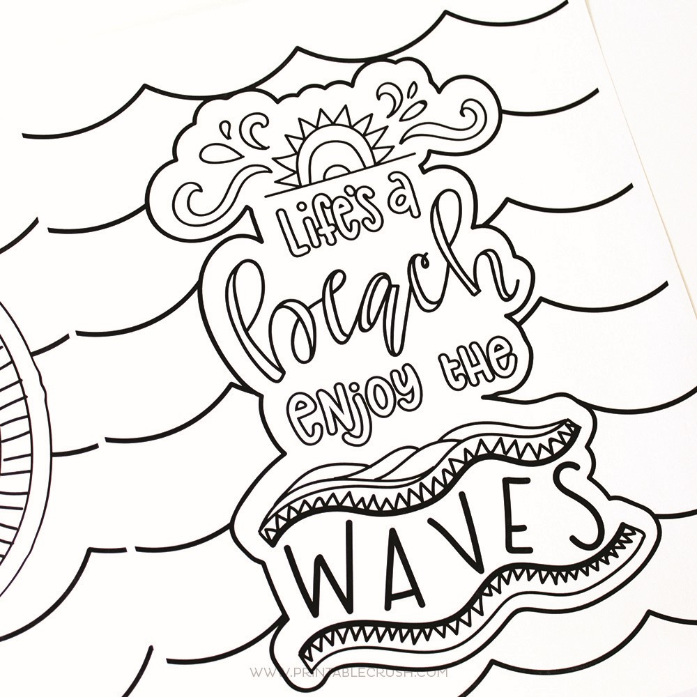 Lifes A Beach Summer Coloring Pages
