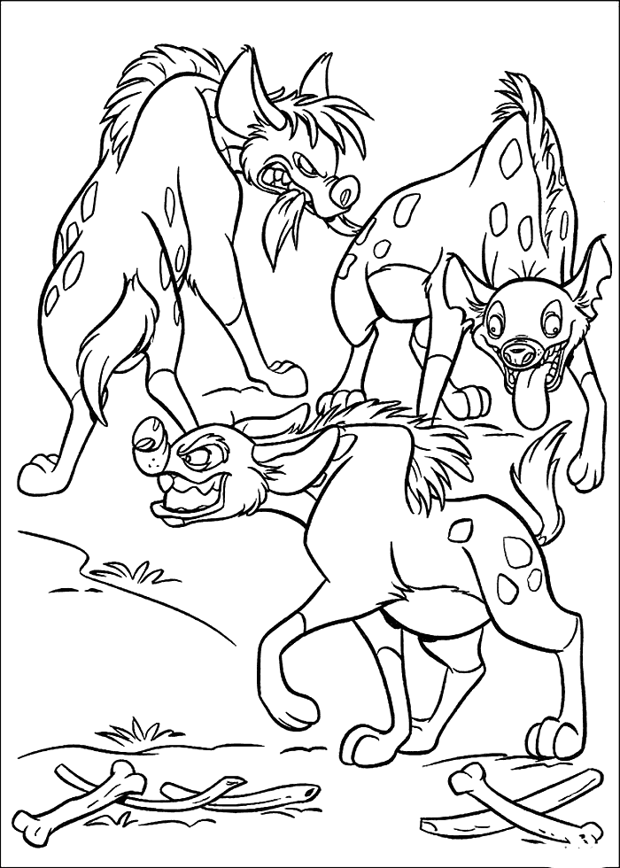 Lion King Hyenas Coloring Page