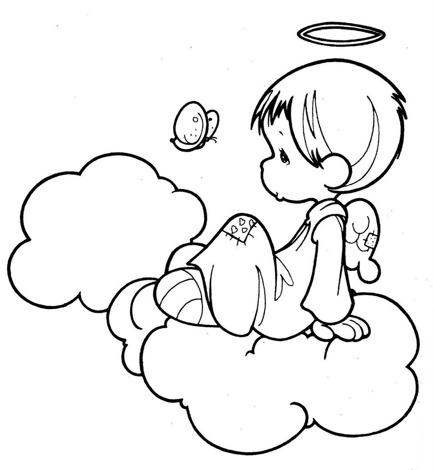 Little Boy Angel Coloring Page