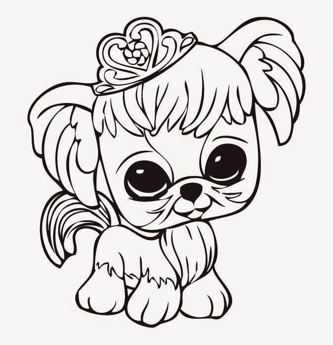 Littlest Pet Shop Coloring Pages - Princess Dog
