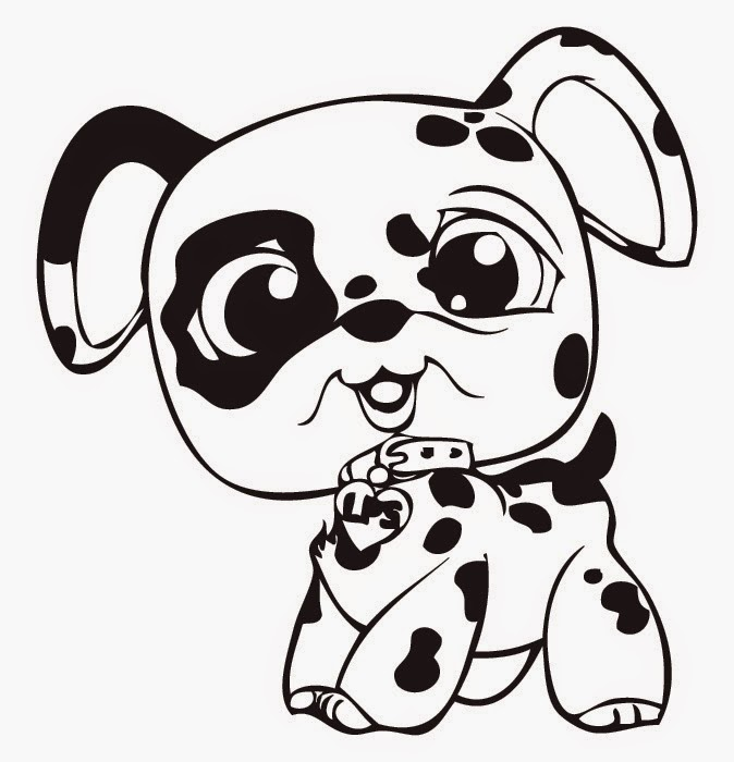 Littlest Pet Shop Coloring Pages - Spot Dog