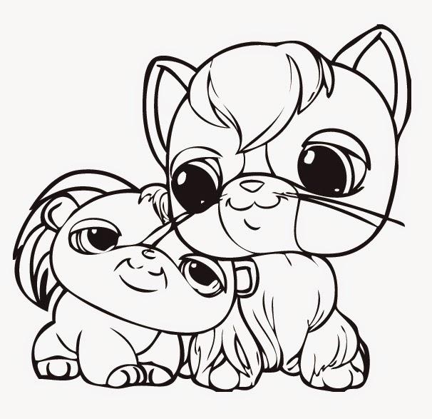 Littlest Pet Shop Friends Coloring Pages