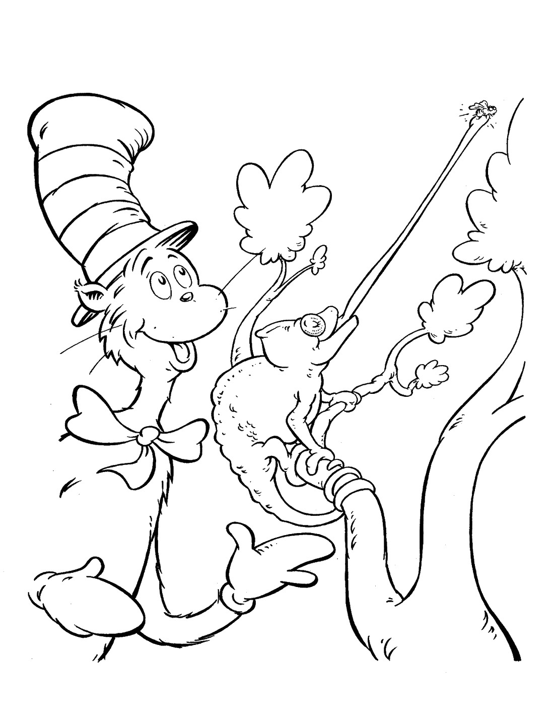 Lizard - Cat in the Hat Coloring Pages