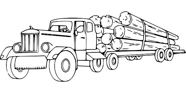 Logger Truck Coloring Pages