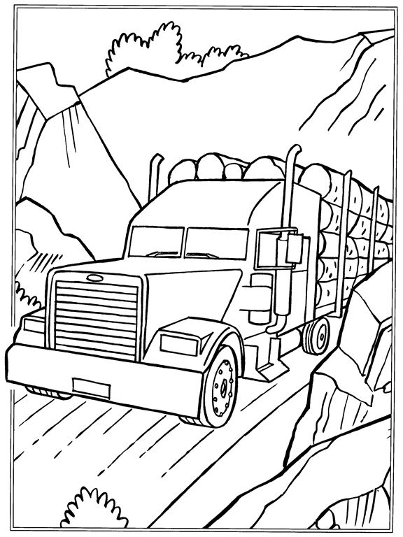 Logging Truck Coloring Pages