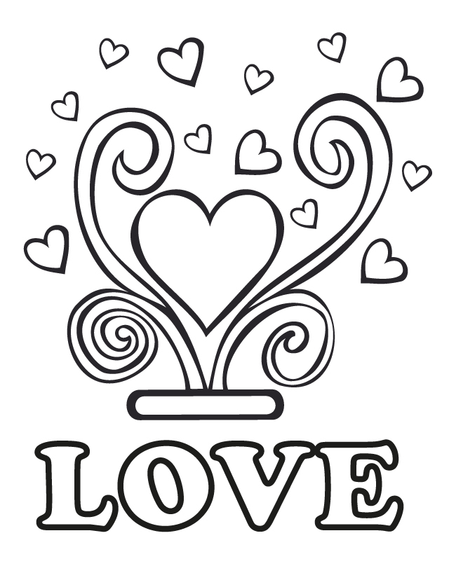 Love Coloring Page for Wedding