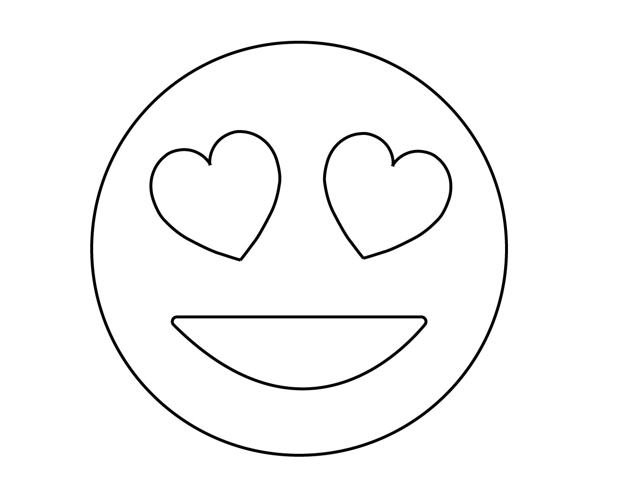 Love Emoji Coloring Page