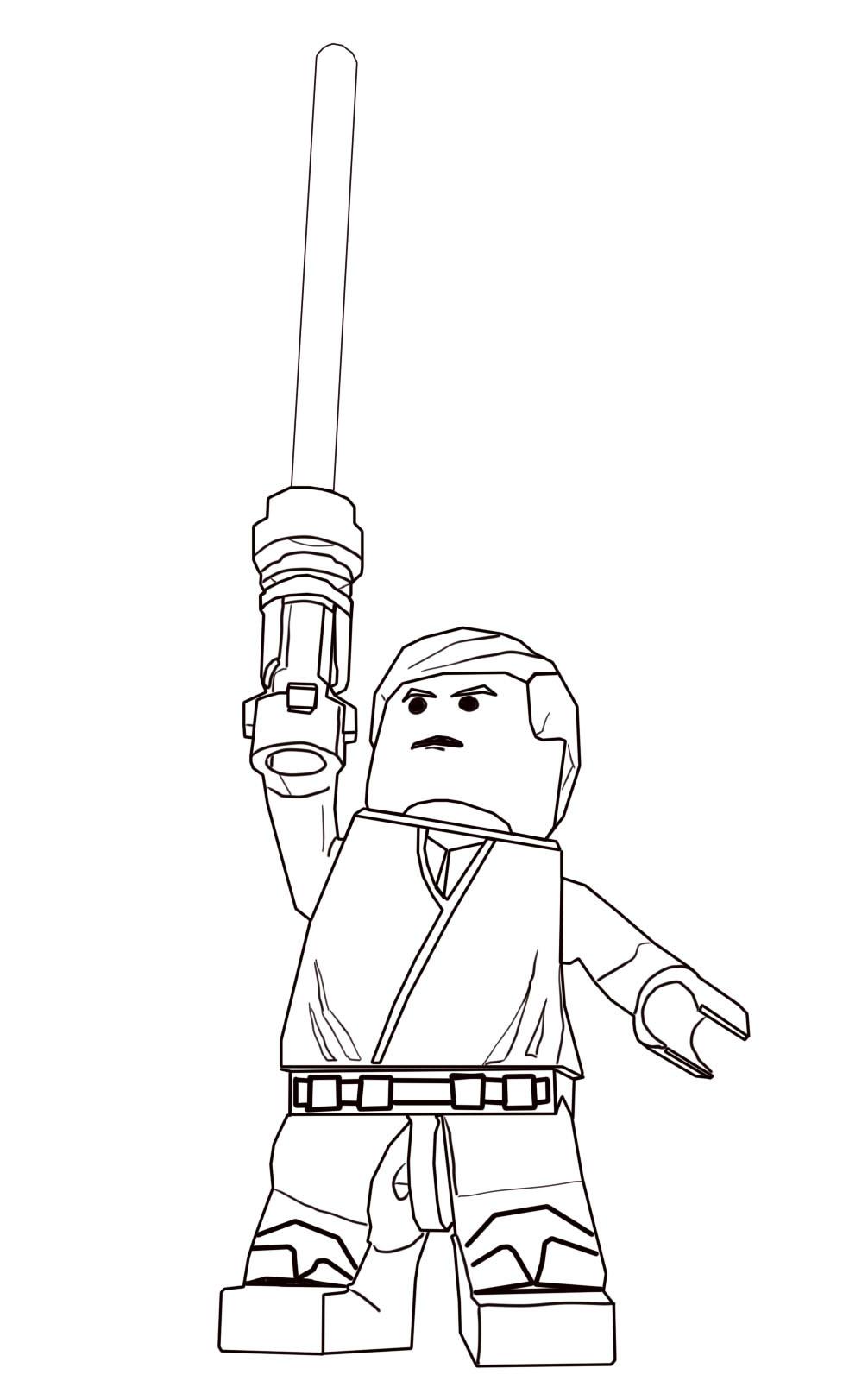 Luke Skywalker Lego Star Wars Coloring Pages