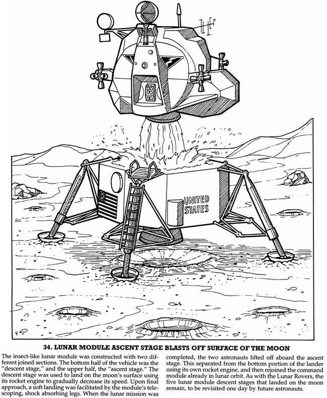 Lunar Module on the Moon Worksheet