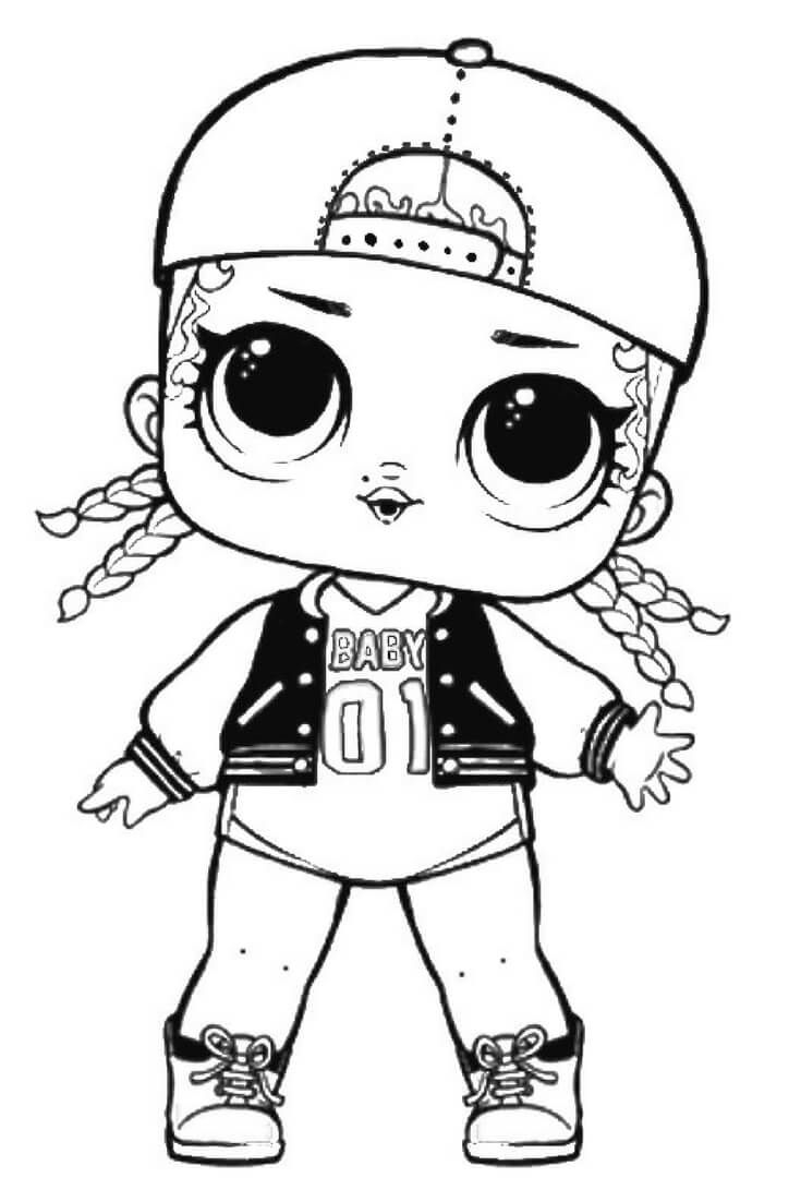 MC Swag LOL Dolls Coloring Pages