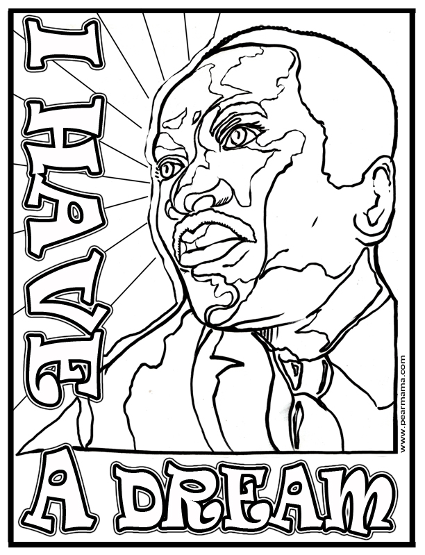 MLK I Have A Dream Coloring Page
