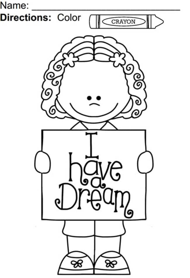 MLK I Have a Dream Coloring Pages