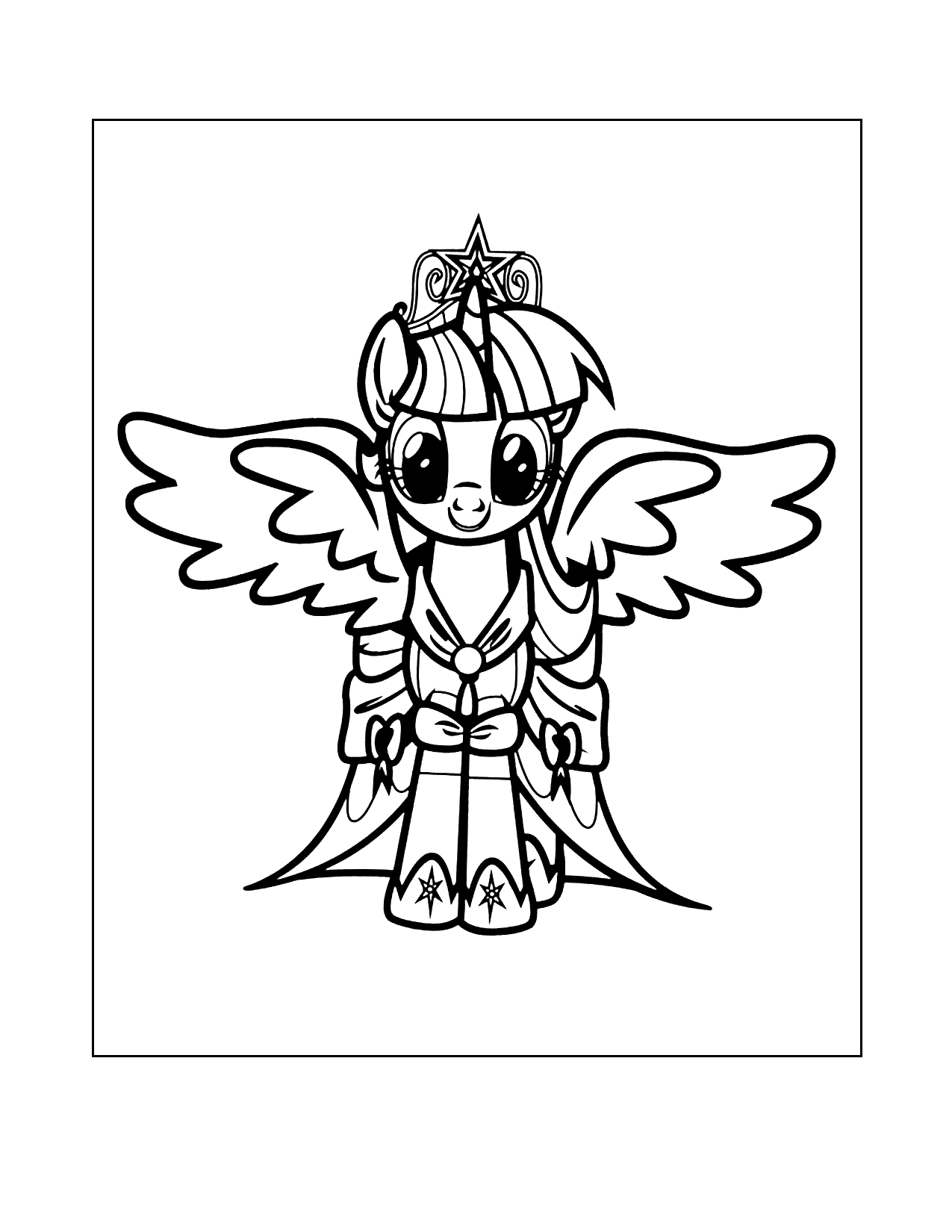 Mlp Alicorn Coloring Pages