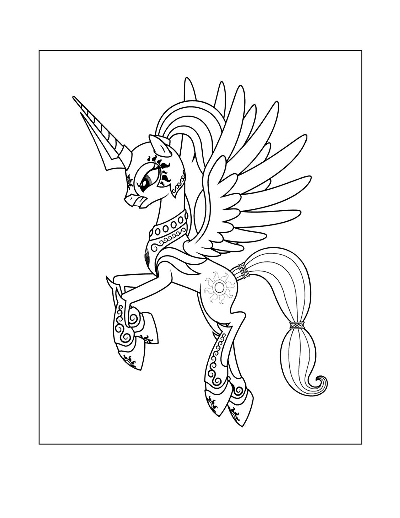 Mlp Celestia Alicorn Coloring Page