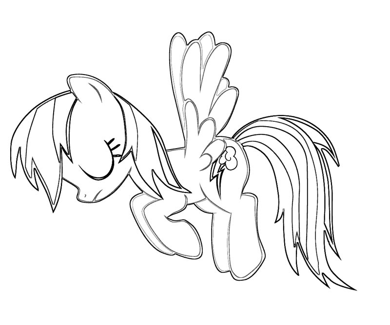 MLP Rainbow Dash Coloring Pages