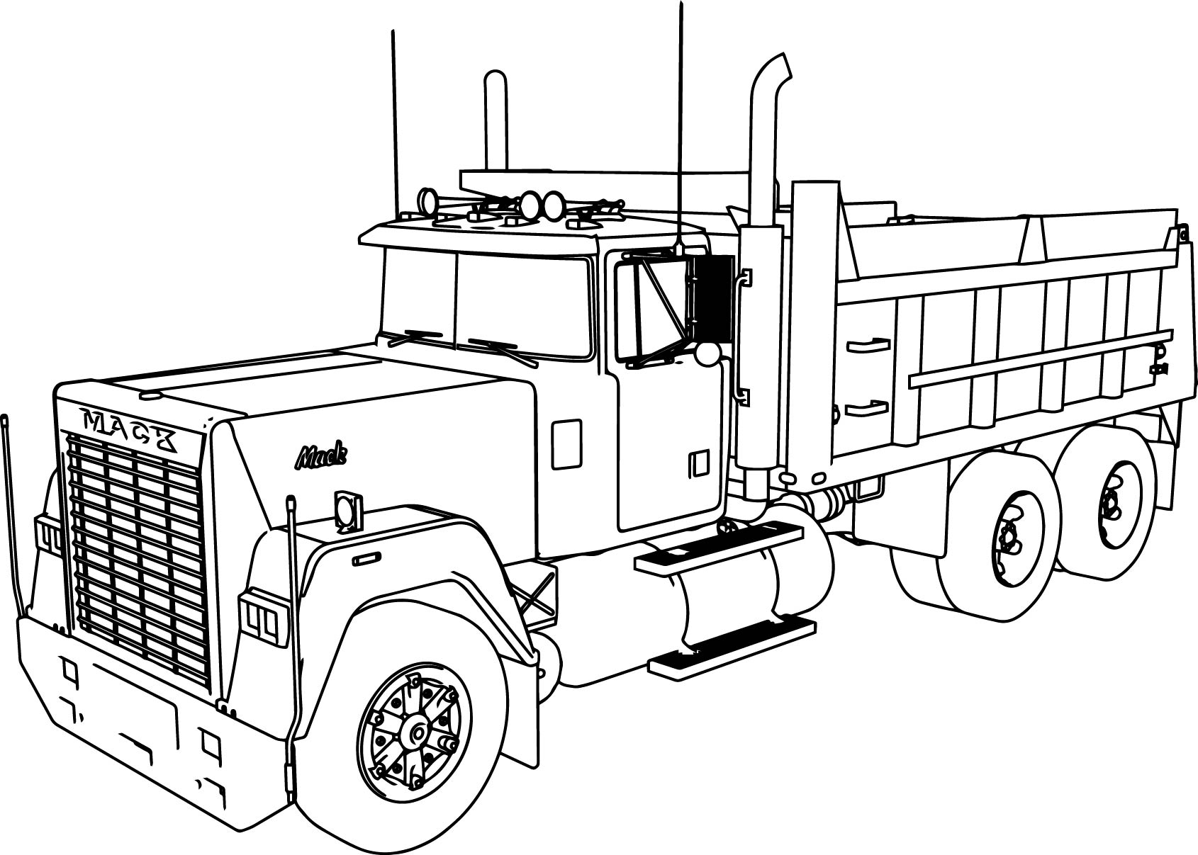 Mack Dump Truck Coloring Pages