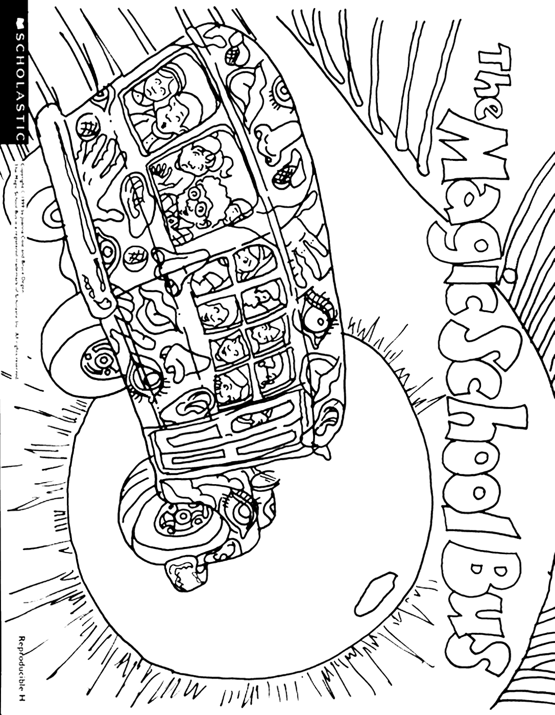 Magic School Bus Printable Coloring Pages