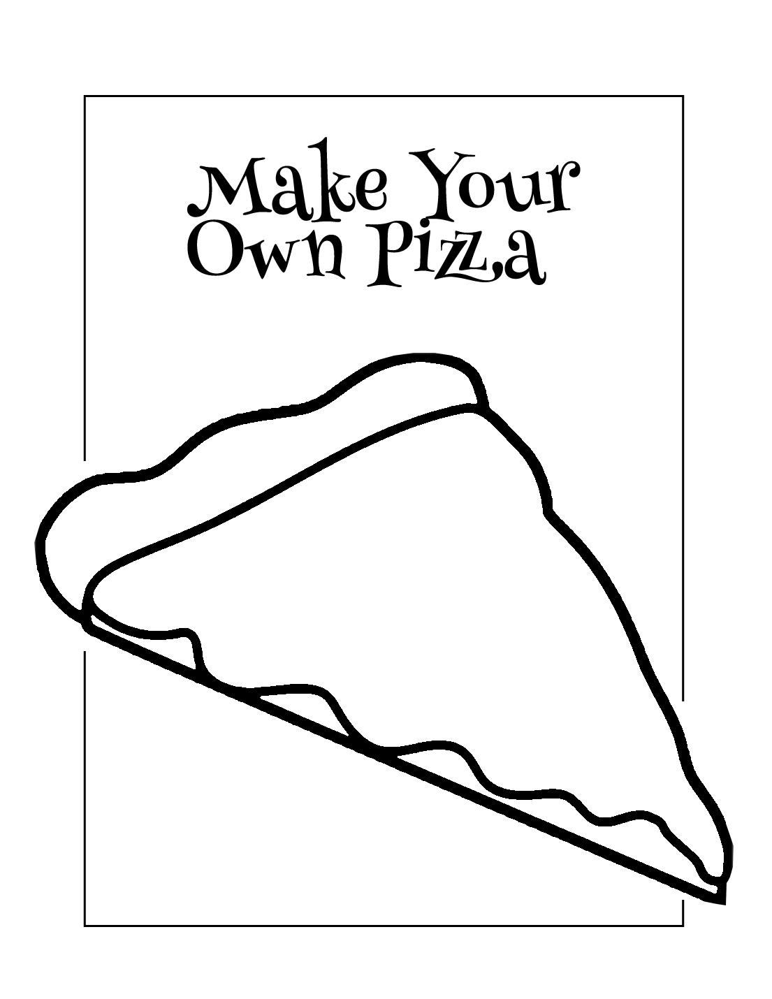 Make Your Own Pizza Coloring Page