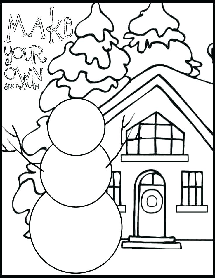 Make Your Own Snowman - January Coloring Pages