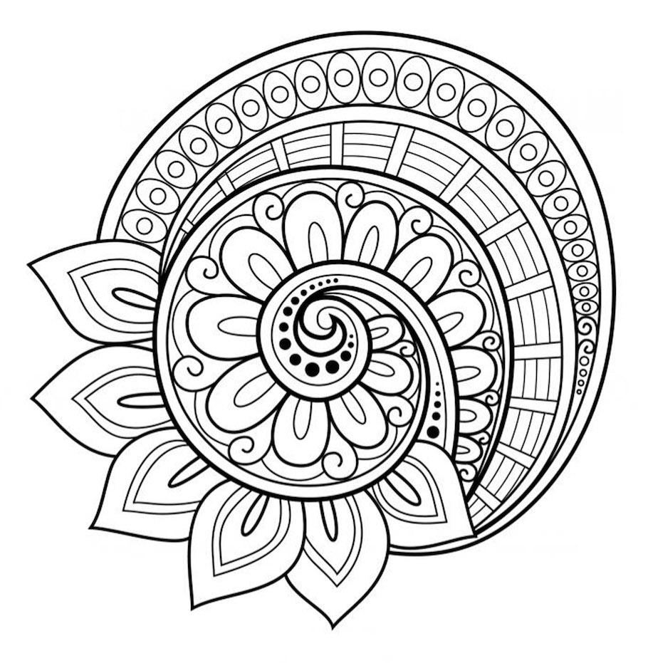 Mandalas For Kids Coloring Rocks