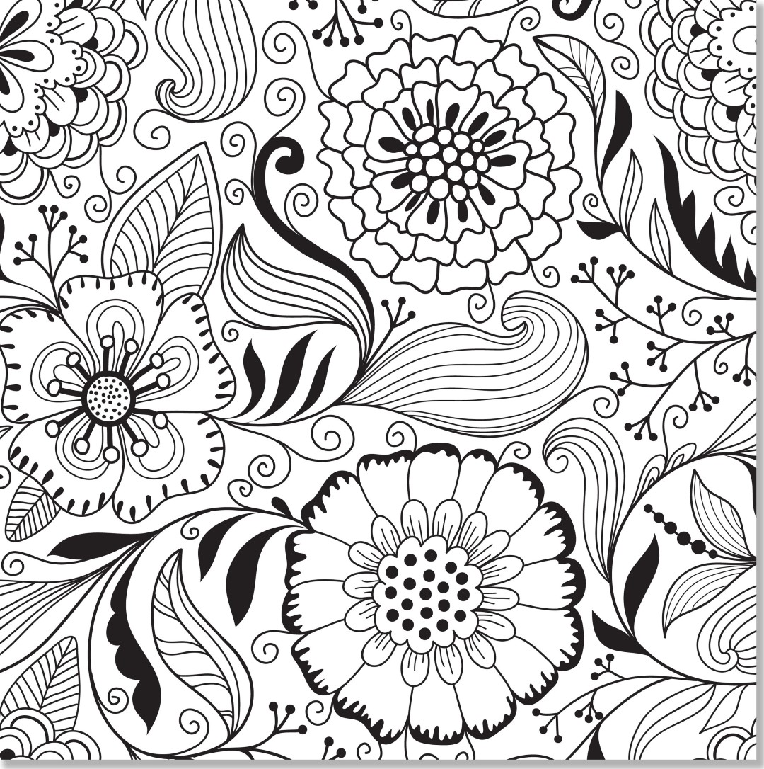 Marigolds Flower Coloring Pages for Adults
