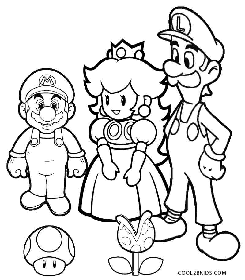 Mario Bros Coloring Pages