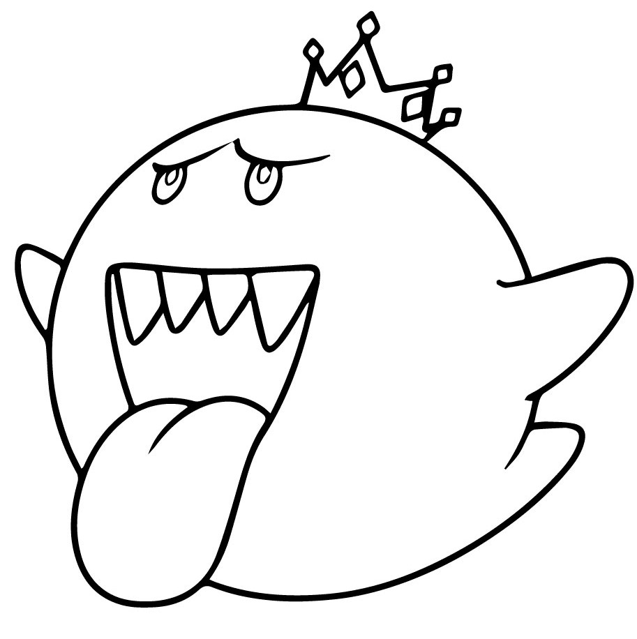 Mario King Boo Coloring Page