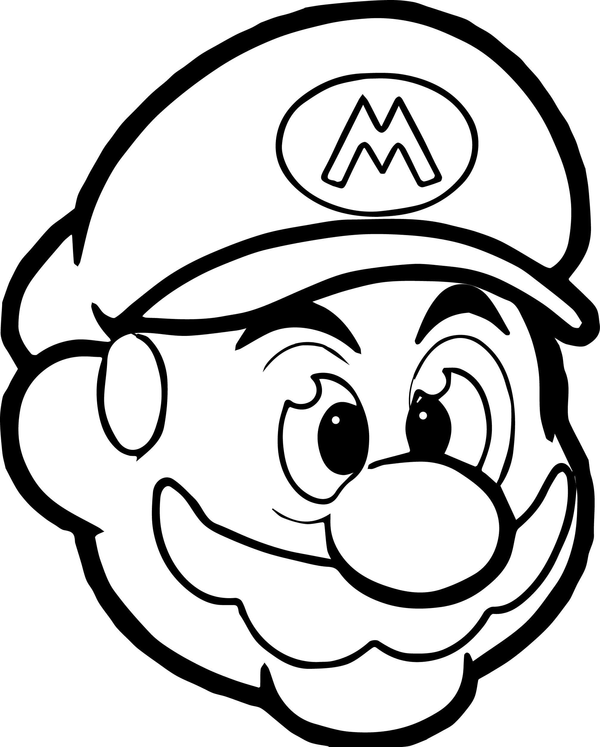 Marios Head Coloring Pages