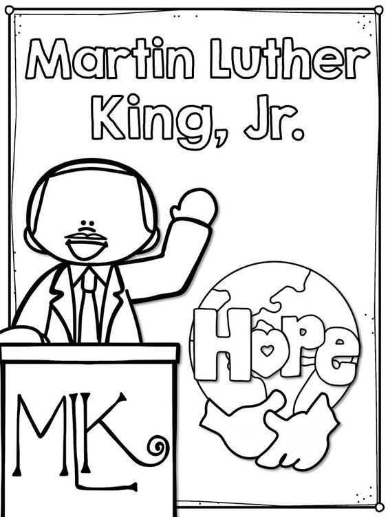 Martin Luther King Free Coloring Page