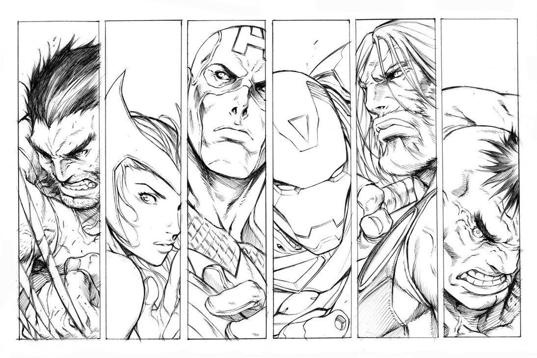 Avengers Coloring Pages ⋆ coloring.rocks!