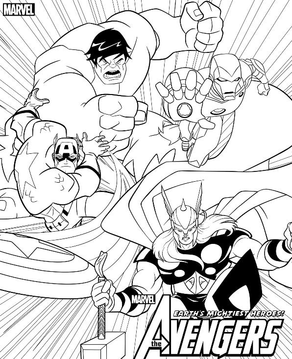 Avengers Coloring Pages – Coloring.rocks!