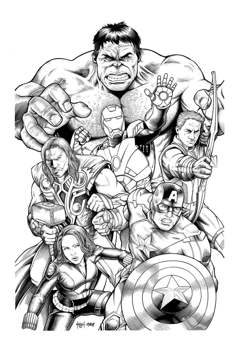 Avengers Coloring Pages Coloring Rocks