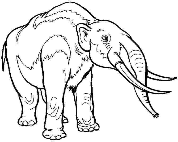 Mastodon Dinosaur Coloring Page