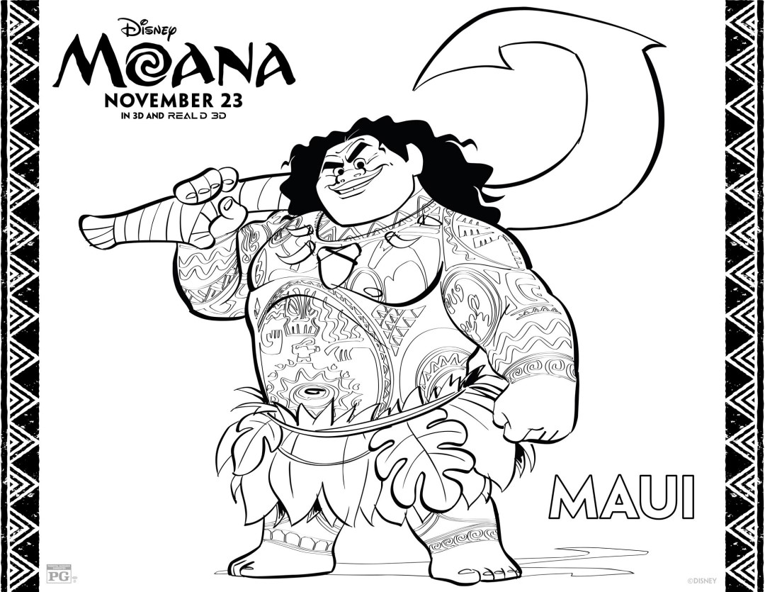 Maui - Moana Coloring Pages