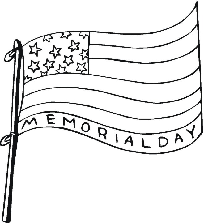 Memorial Day Flag Coloring Page