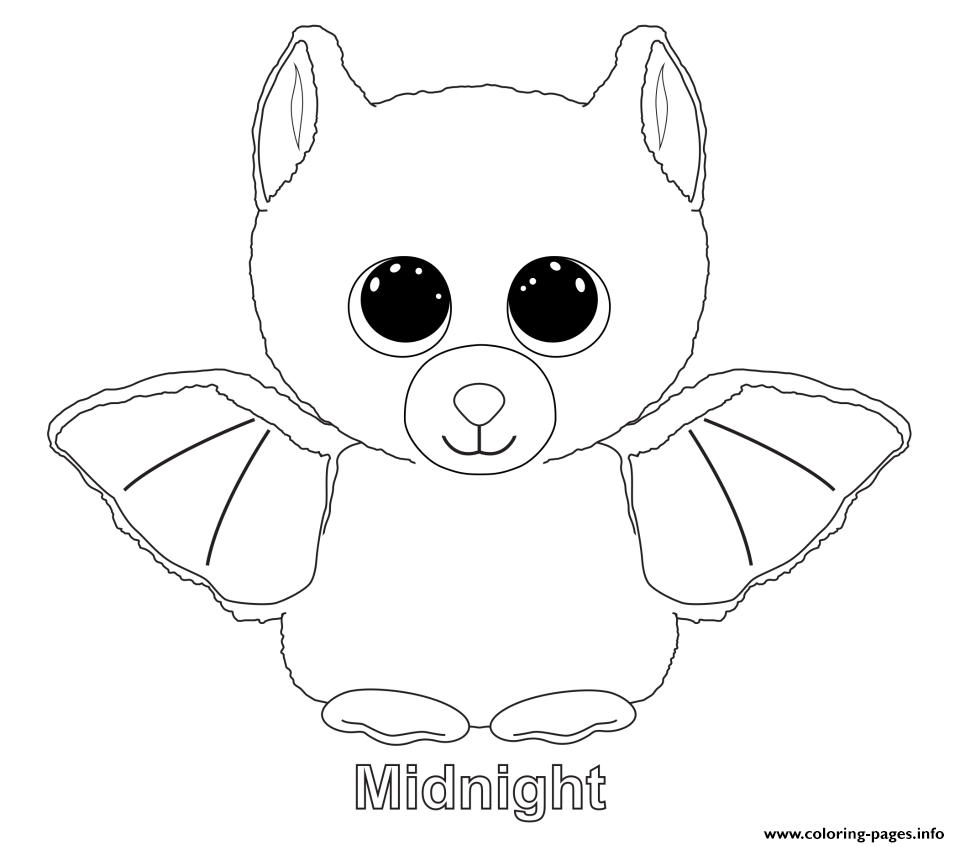 Midnight - Beanie Boo Coloring Pages