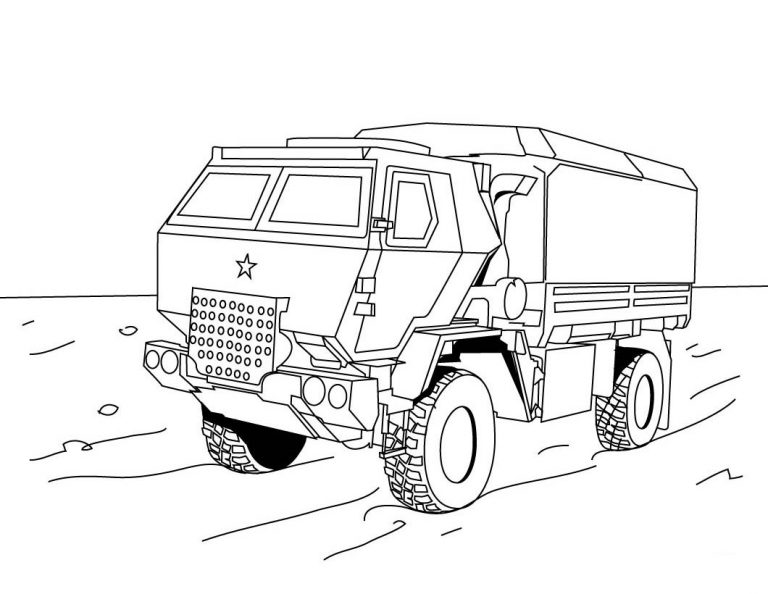 Military Truck Coloring Pages