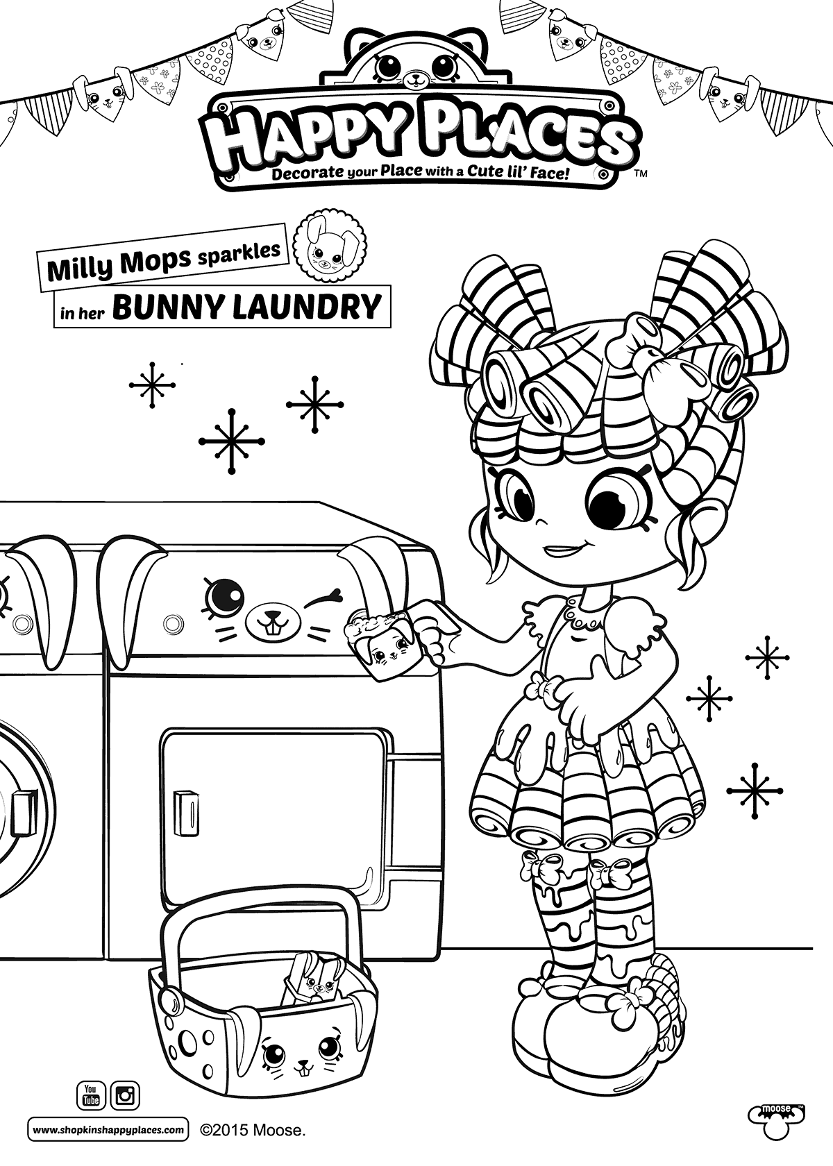 Milly Mops Shoppies Coloring Pages