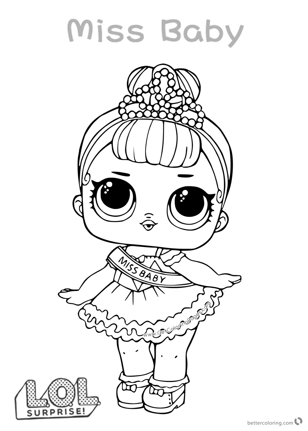 Miss Baby LOL Dolls Coloring Pages