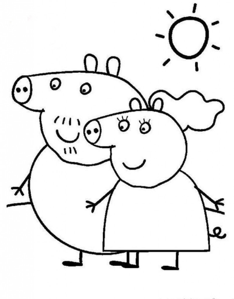 Mom and Dad Peppa Pig Pictures to Color