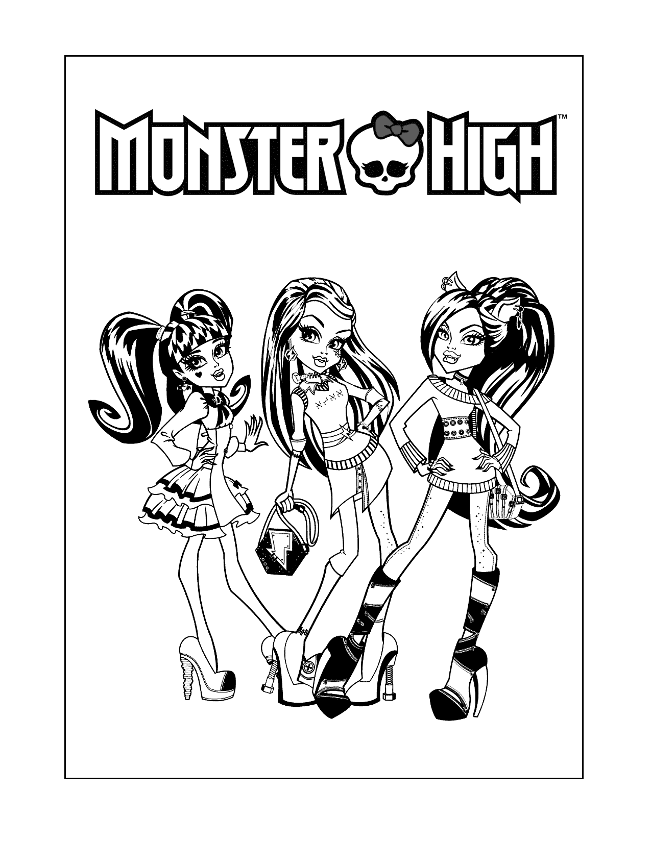 Monster High Dolls Coloring Pages