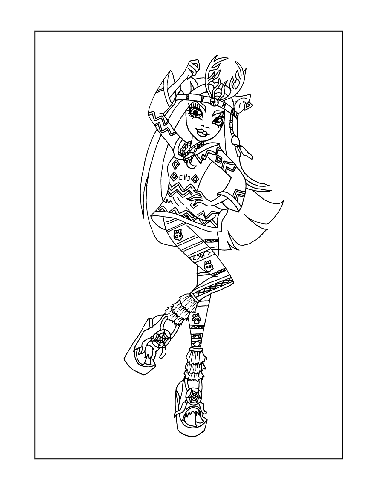 Monster High Isi Dawndancer Coloring Page