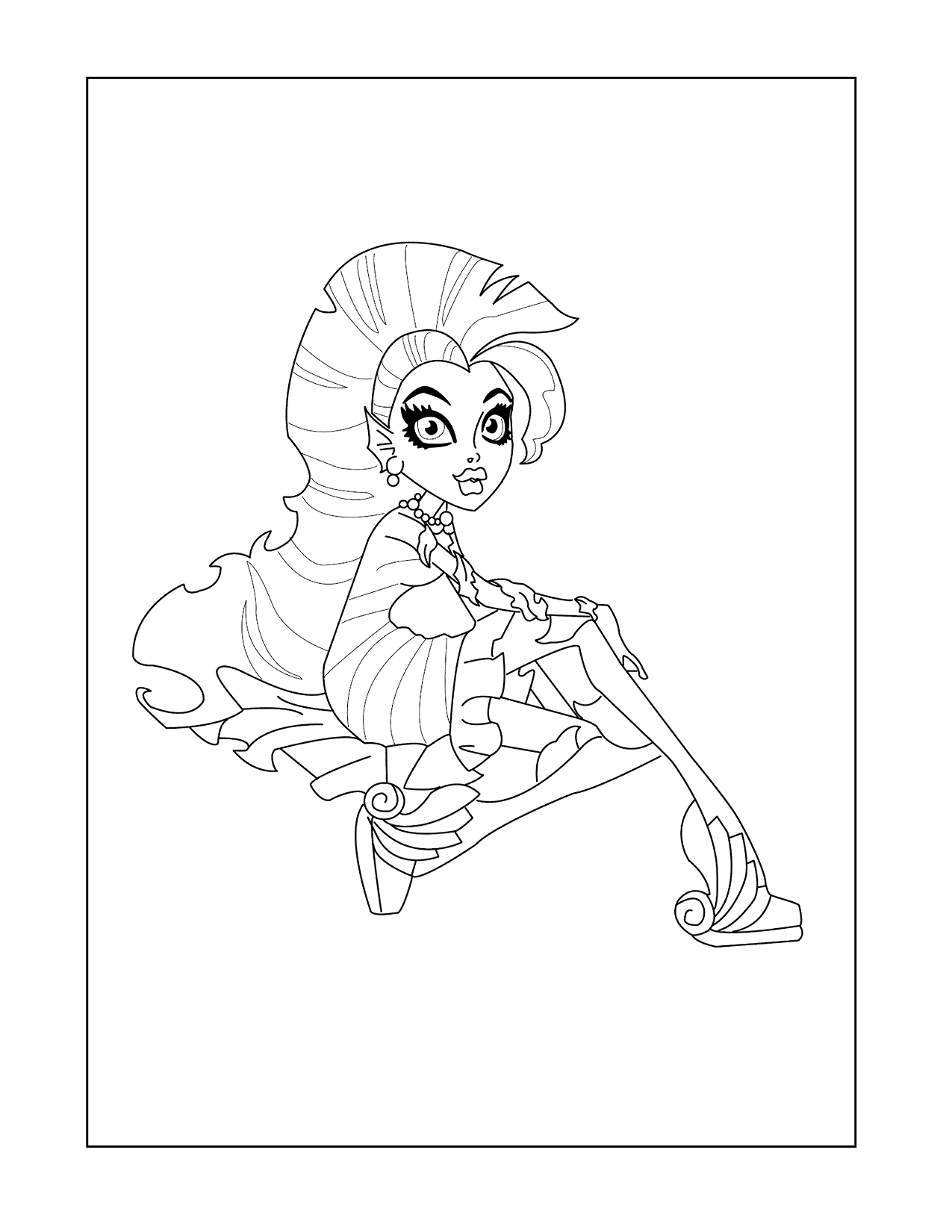 Monster High Lagoona Coloring Page