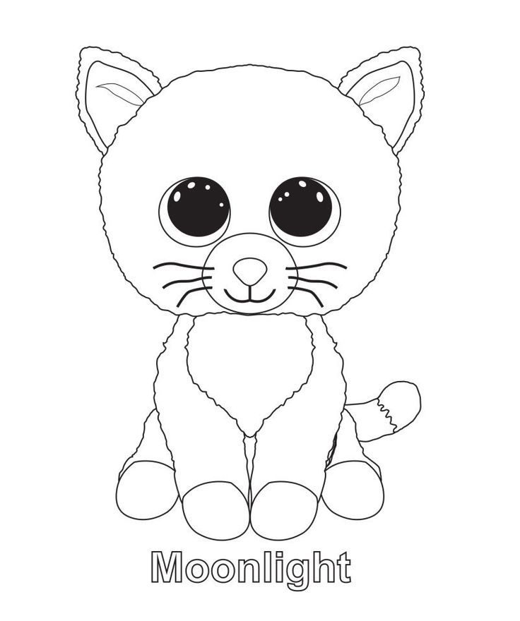Moonlight - Beanie Boo Coloring Pages