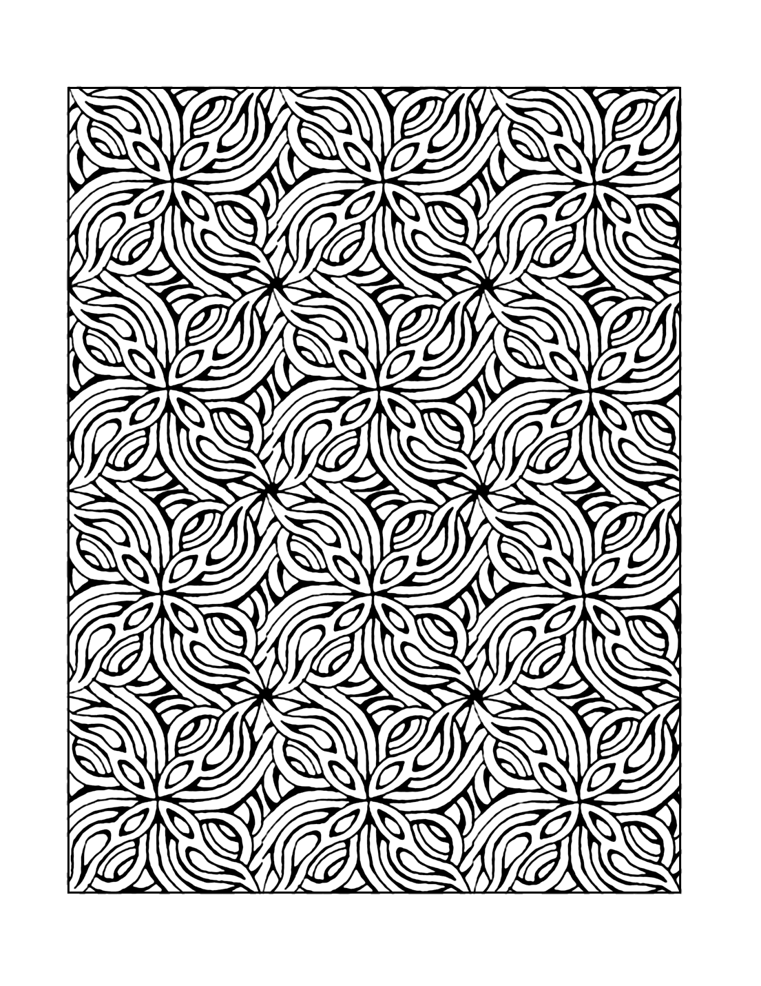 Mosaic Coloring Pattern