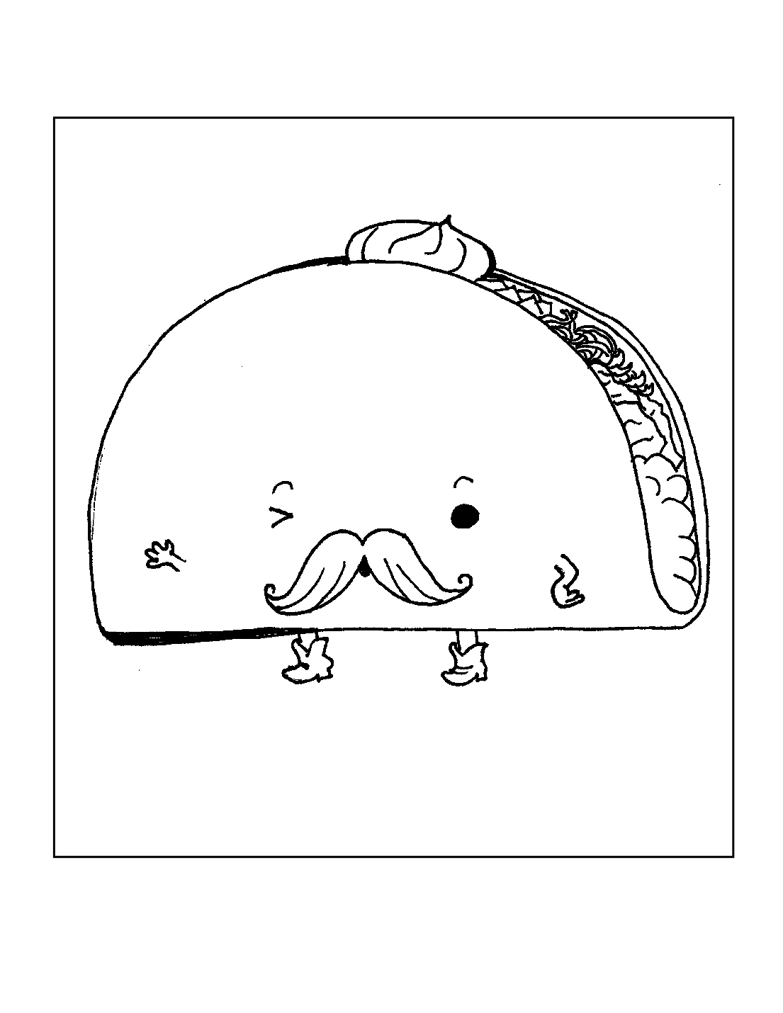 Mr Taco Coloring Page