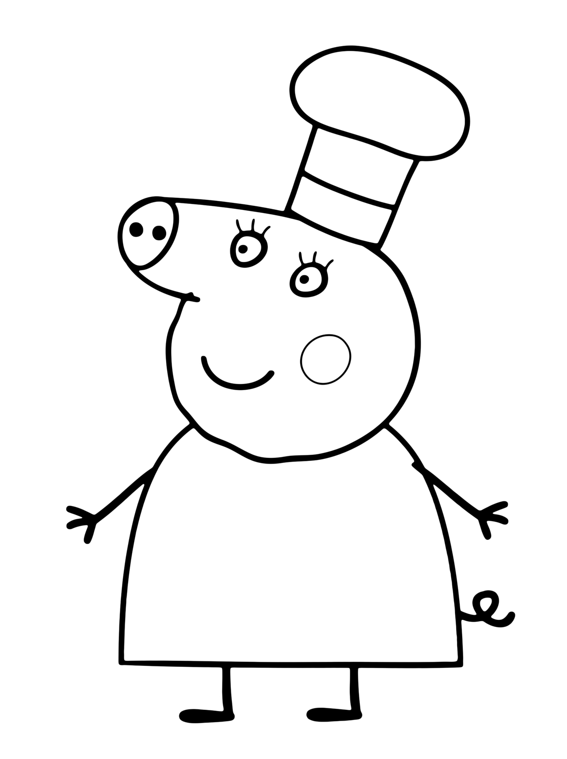 Mummy Chef Peppa Pig Coloring Pages