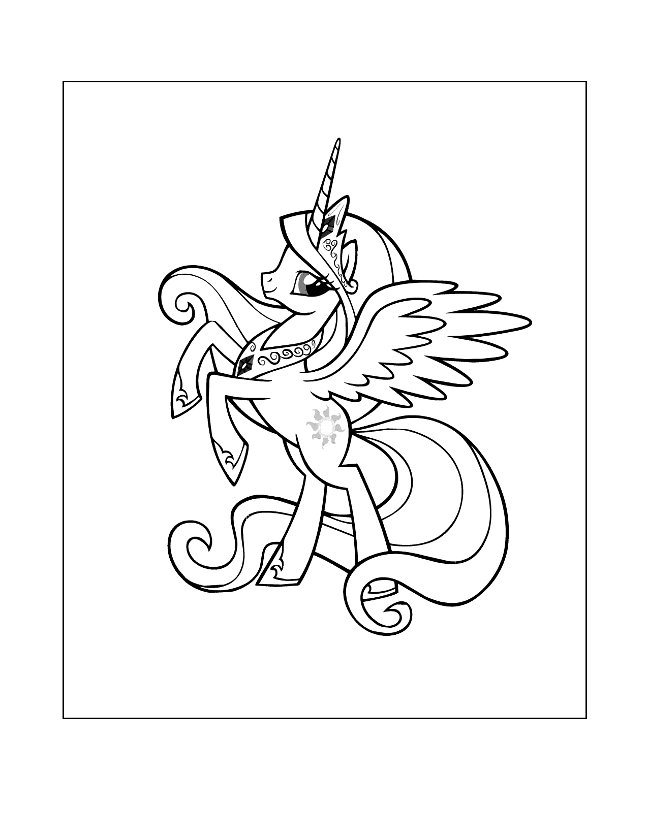 My Little Pony Alicorn Coloring Page