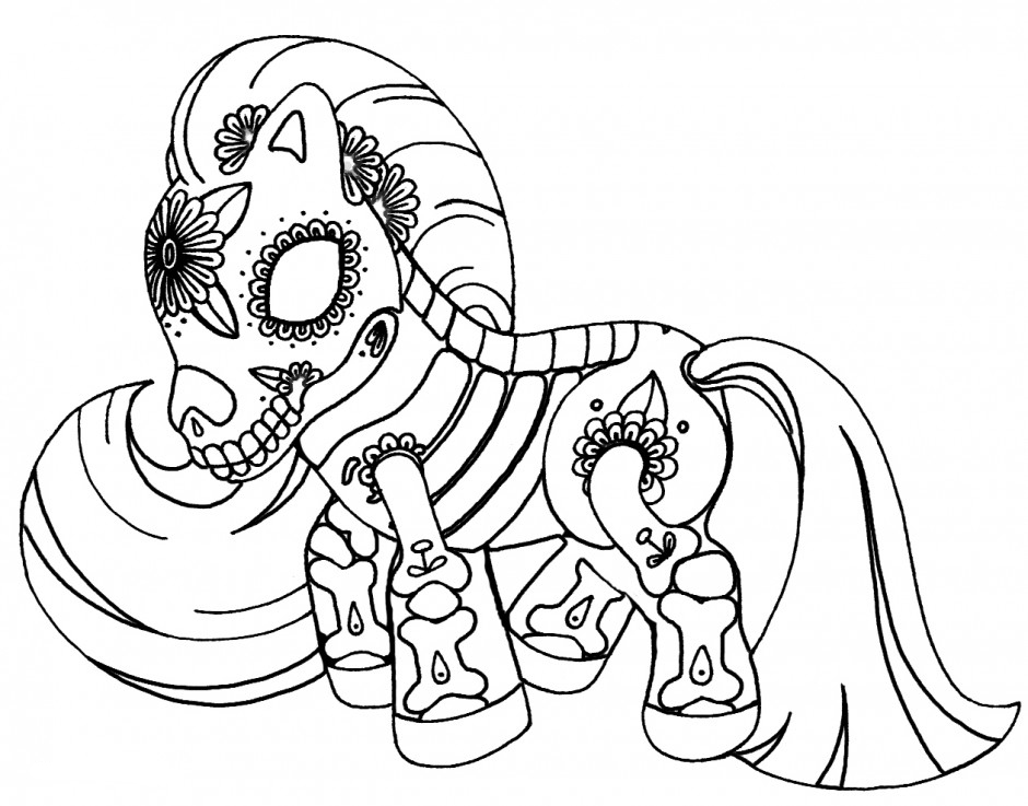 My Little Pony Sugar Skull Coloring Page